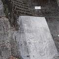 写真: 最初の一段目が大変な階段