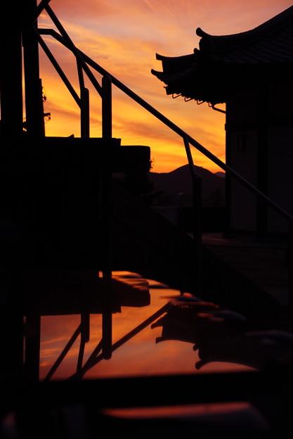 夕焼け空の切り絵 6