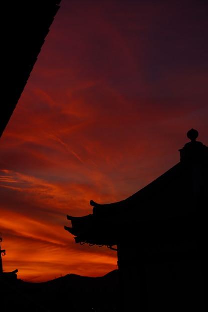 夕焼け空の切り絵 7