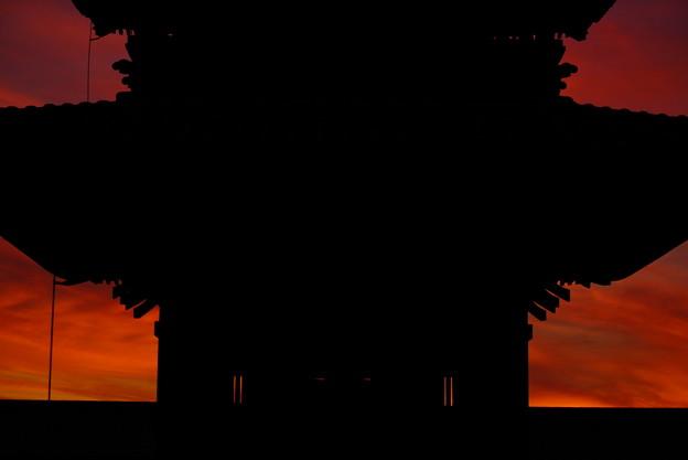 夕焼け空の切り絵 10