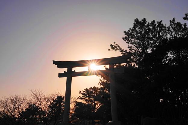 200224_73R_鳥居からの光芒・RX10M3(木更津) (5)