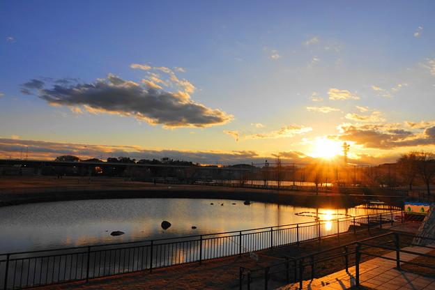 200201_53Y_夕景の遊水地・RX10M3(新横浜) (2)