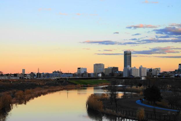 200201_54Y_夕景の遊水地・南側・X10M3(新横浜) (1)