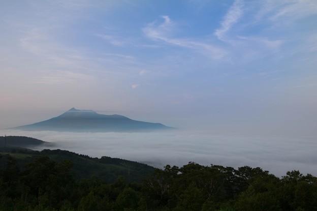 雲海と駒ヶ岳