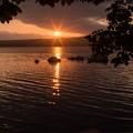 Photos: 夕暮れの大沼湖畔