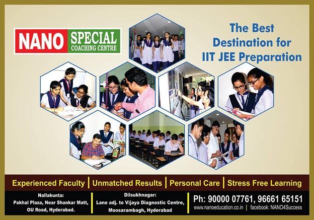 IIT JEE Coaching Center in Hyderabad-Nano Education