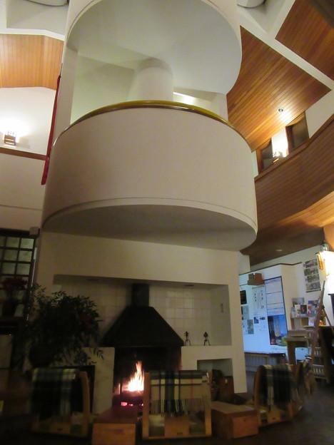 暖炉のある宿