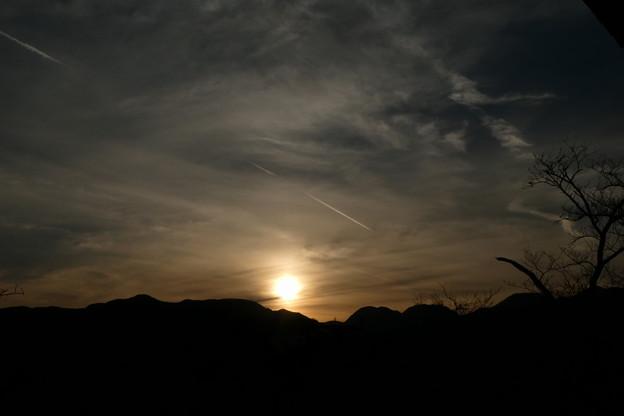小田原城 から見た夕陽