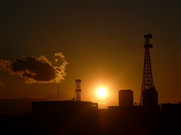 最近の夕陽