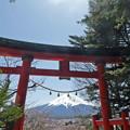 フレームにしてみる富士山