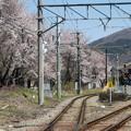 線路と富士山