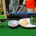 写真: 一緒に朝食