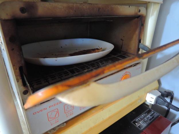 オーブントースターから忽然と消えた焼き魚