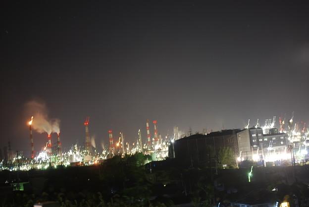 工場地帯の夜景
