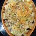 写真: G先生にこれを。土曜の夜に簡単に作ったチーズグラタンです