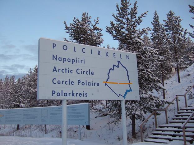 北極圏入り口