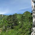 写真: 180726-35再挑戦「霞沢岳登山」・左から霞沢岳,K2ピーク、K1ピーク
