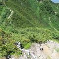 写真: 180726-49再挑戦「霞沢岳登山」・K1ピークから次に行く霞沢岳への道(1/2)