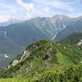 写真: 180726-51再挑戦「霞沢岳登山」・K1ピークからの360度(1/8)・穂高連峰方向
