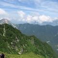 写真: 180726-52再挑戦「霞沢岳登山」・K1ピークからの360度(2/8)・焼岳方向