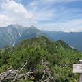 写真: 180726-76再挑戦「霞沢岳登山」・霞沢岳からの360度(1/9)