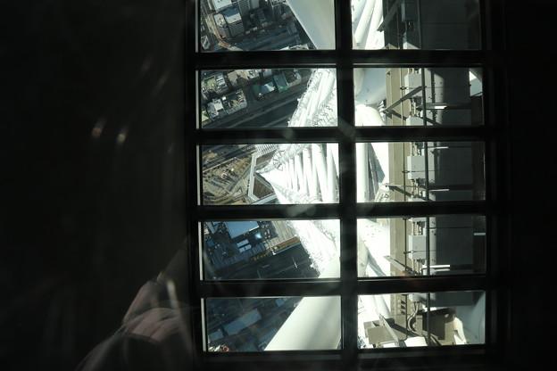 190201-70スカイツリーから日本橋まで・スカイツリー・展望デッキ・ガラス床から見た地上