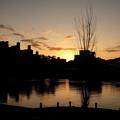 Photos: 夕暮れに穏やかな川