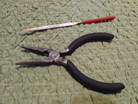 鍵穴から取り出した道具