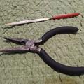 写真: 鍵穴から取り出した道具