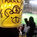 可愛いの描いてもらった。生ビール旨い。
