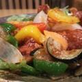 Photos: 野菜と唐揚げの甘酢あえ