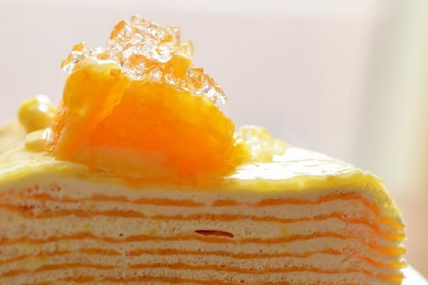 オレンジのミルクレープ