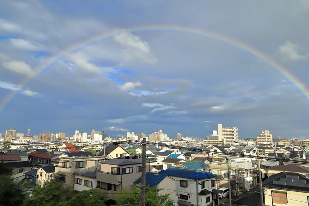 雨上がりの虹