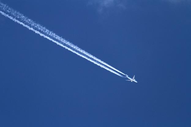 B777-300ER KLM 31000feet上空通過