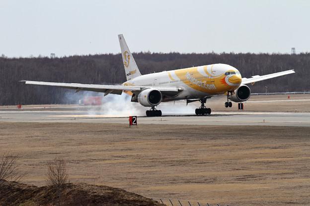 B777 nokscoot landing
