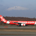 写真: A330 Thai AirAsia Xと樽前山