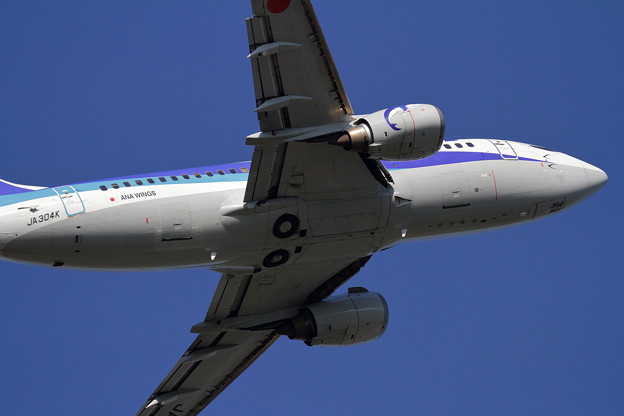 B737-54K ANA Wings JA304K takeoff