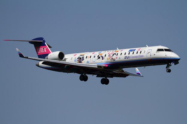 CRJ700 むすび丸 IBEX JA14RJ approach