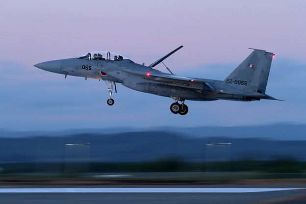 写真: F-15DJ 055 203sq Night training (1)
