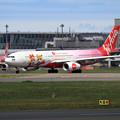 写真: A330 ThaiAirAsiaX Lotte World livery HS-XTD (1)