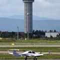 写真: DA42-NG N430PS CTSに到着