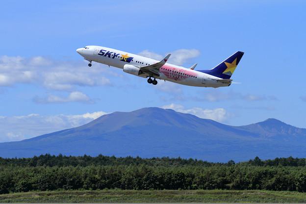 B737 SKYのHAWKS Jet takeoff