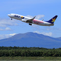 Photos: B737 SKYのHAWKS Jet takeoff