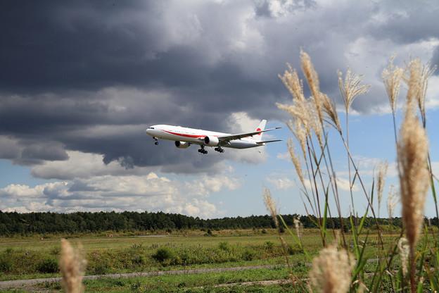 B777-300ER 80-1111 飛行訓練始まる(3)