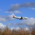 写真: ERJ-170STD JAL 秋空に