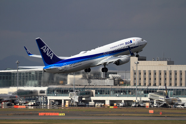 B737 ANA JA88AN takeoff