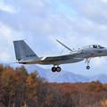 写真: F-15J 860 201sq 恵庭岳には雪が