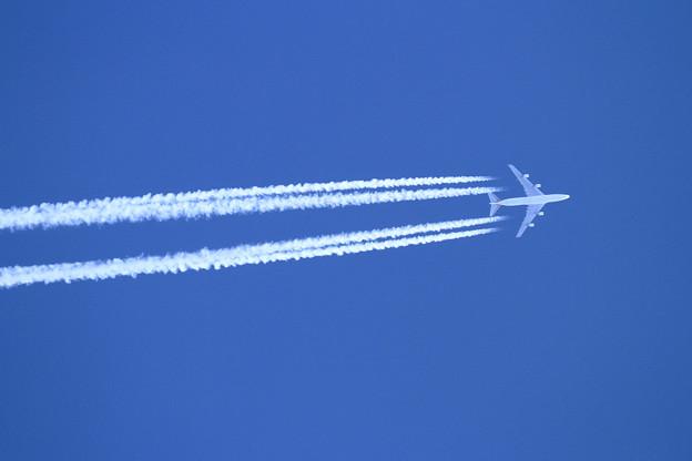 B747F 秋空高くKalitta Air 38000ft上空