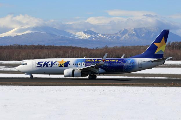 B737 SKY星空ジェット 初冬の樽前山と