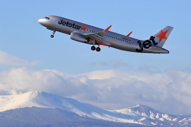A320 Jetstar 初冬の樽前山と